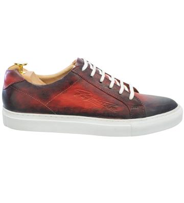Pantofi Casual Maro Inchis, Berta2, din Piele Naturala