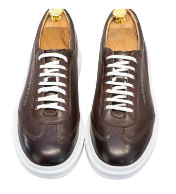 Sneakers Negri, din Piele...